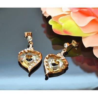 23e4f6dd948 Vincento Earrings With Swarovski Elements Miss U Heart VE-3071 kaina ...